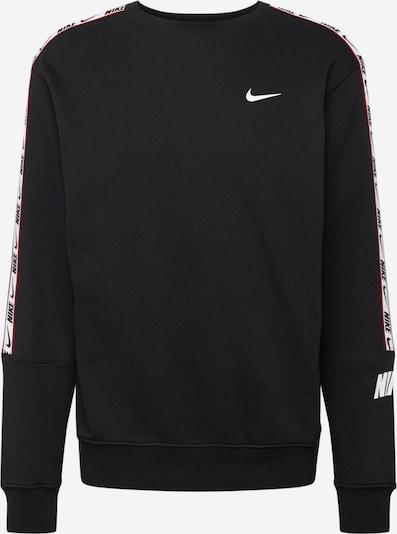 Nike Sportswear Sweatshirt 'Repeat' in blutrot / schwarz / weiß, Produktansicht