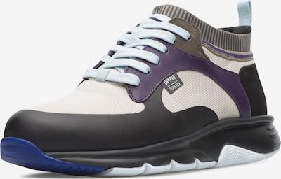 CAMPER Sneaker 'Drift' in dunkelbraun / hellgrau / violettblau / schwarz: Frontalansicht