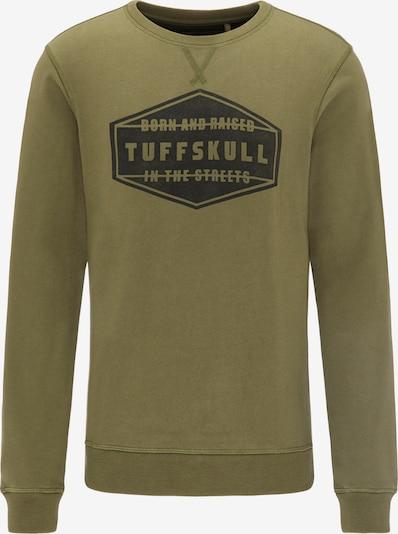 TUFFSKULL Sweatshirt in grün / oliv, Produktansicht