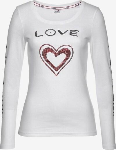 KangaROOS Shirt in rubinrot / schwarz / weiß, Produktansicht