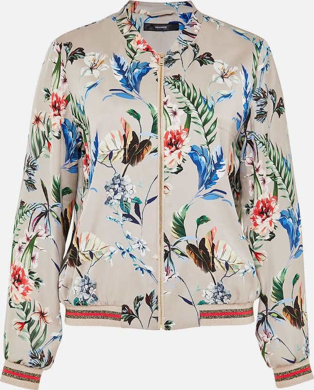 Huber Hall Blouson Knit Cuffs With Exotic-print &