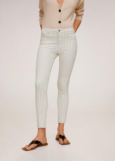 MANGO Jeans 'Isa' in beige / weiß, Modelansicht
