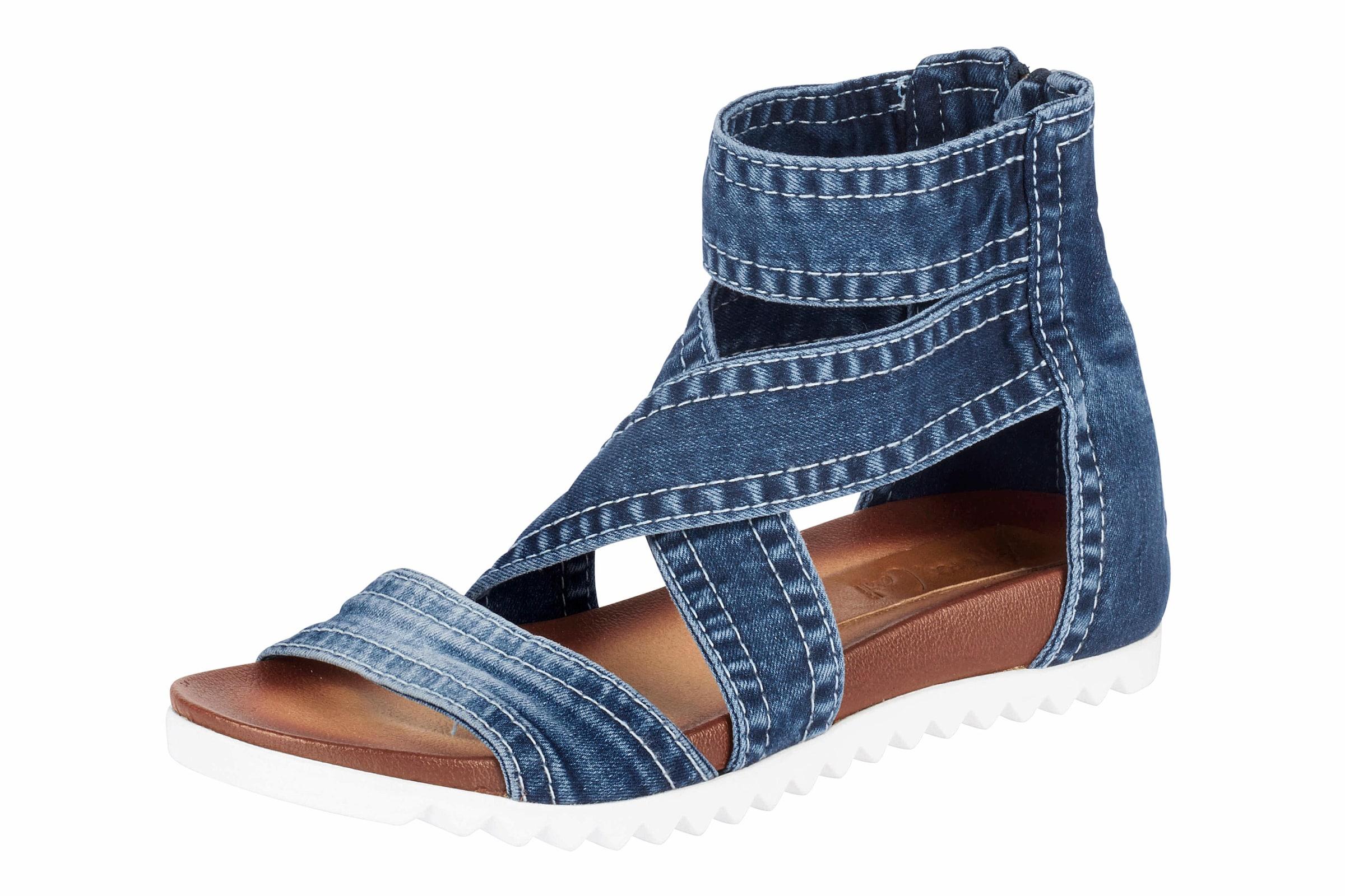 ANDREA CONTI | Sandalette im Denim-Look Schuhe Gut getragene Schuhe
