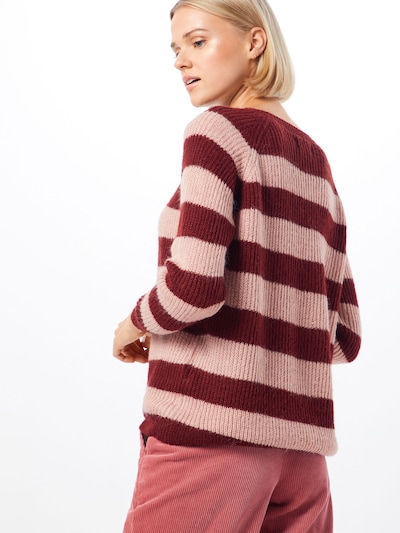 ONLY Pull-over 'NEW MALONE' en rose / lie de vin: Vue de dos
