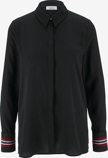 Bluză heine pe negru: Privire frontală