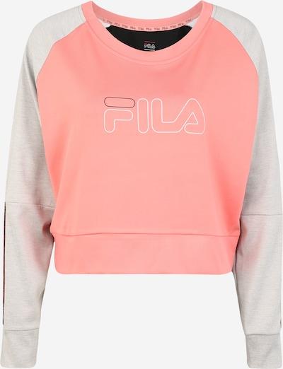 FILA Sweat de sport 'AHUVA' en gris / rose / blanc, Vue avec produit