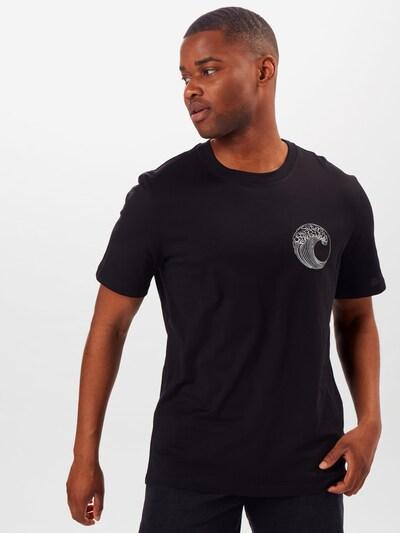 ARMEDANGELS Shirt 'SAVE OUR OCEAN' in schwarz: Frontalansicht