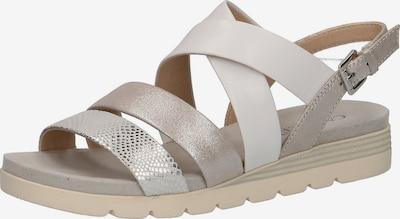 CAPRICE Sandalen in nude / silber, Produktansicht