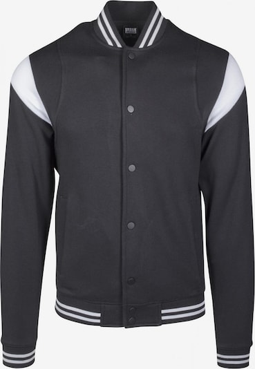 Urban Classics Jacket in schwarz / weiß: Frontalansicht
