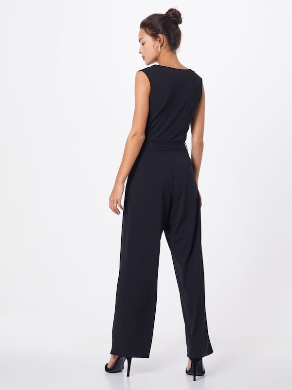 Mela London Overall 'COWL NECK SLEEVELESS JUMPSUIT' in schwarz: Rückansicht