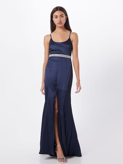 Missguided Společenské šaty 'SATIN DIAMANTE' - modrá, Model/ka