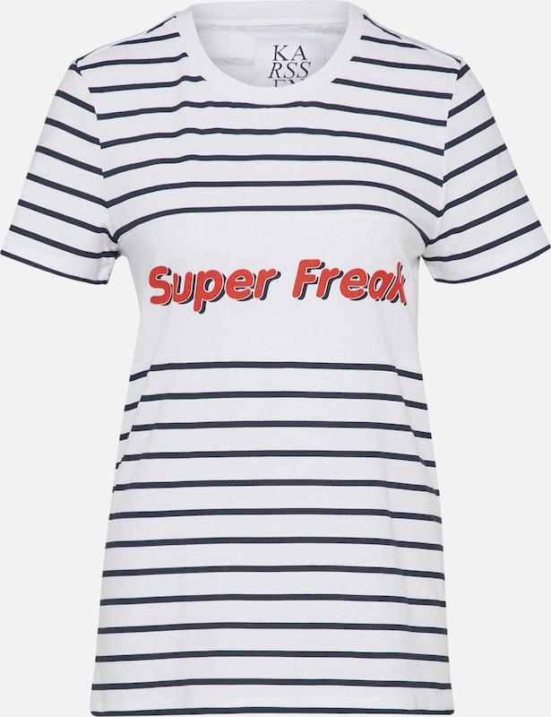 En Blanc Karssen Zoe T shirt Bleu MarineRouge SMVpGzUq