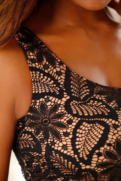 DESSOUS DESSUS Body in nude / schwarz, Produktansicht