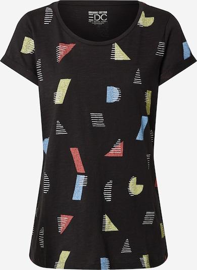 EDC BY ESPRIT T-shirt en jaune / noir / blanc: Vue de face