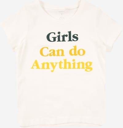 NAME IT T-Shirt 'KEXHALE' en safran / noir / blanc naturel, Vue avec produit