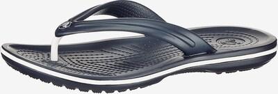 Crocs Zehentrenner 'Flip' in dunkelblau / weiß, Produktansicht