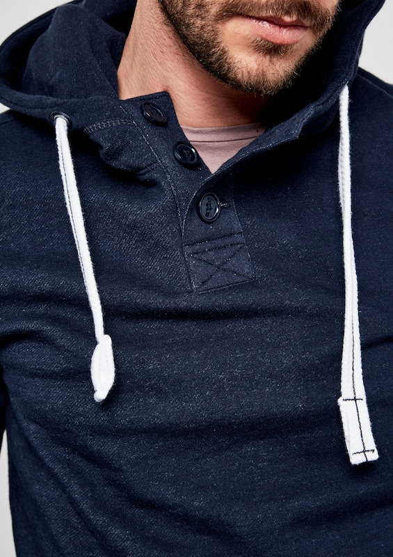 Q / S Designed By Hooded Shirt Button Tape
