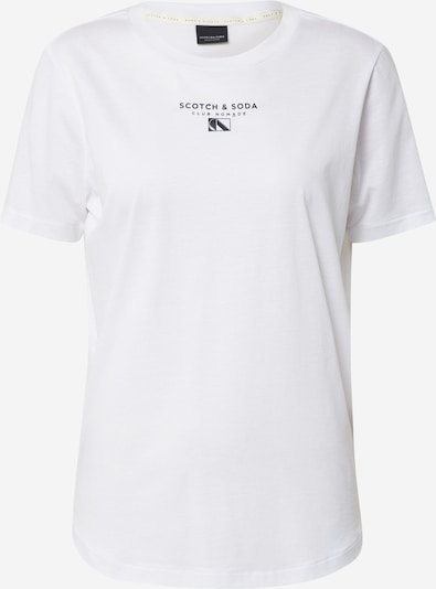 SCOTCH & SODA T-Shirt 'Club Nomade' in blau / weiß, Produktansicht