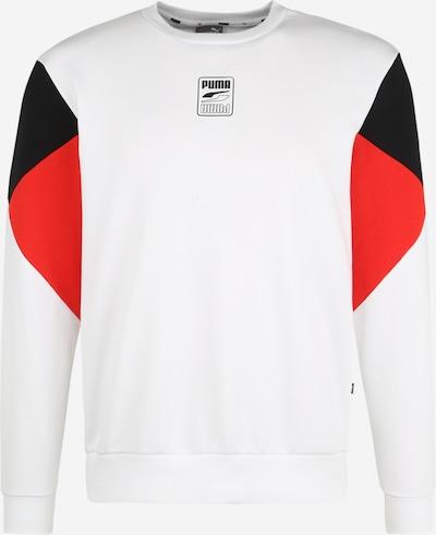 PUMA Sweatshirt in rot / schwarz / weiß, Produktansicht