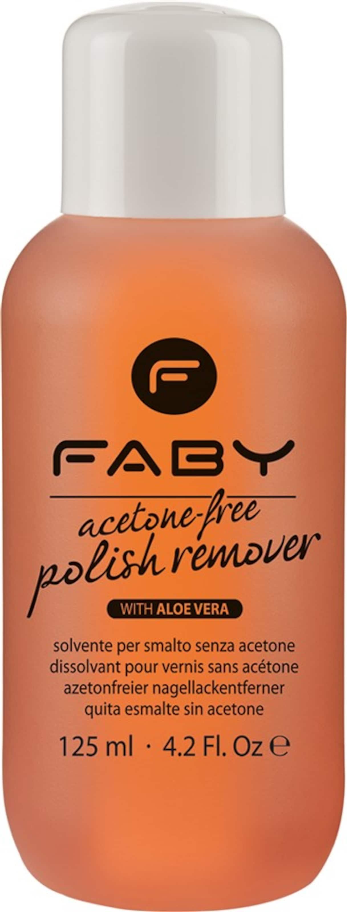 FABY 'Aceton Free Polish Remover', Aceton-freier Nagellack-Entferner