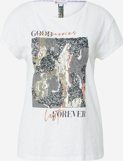 STREET ONE T-Shirt in mischfarben / weiß, Produktansicht