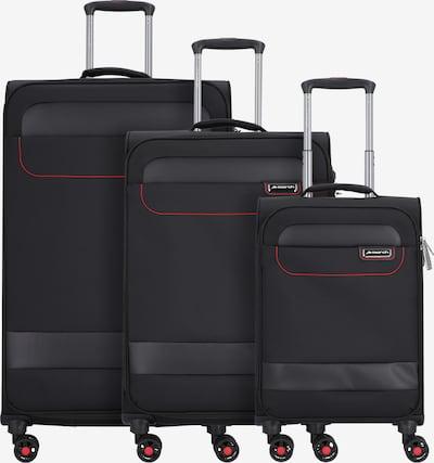 March15 Trading Kofferset 'Tourer' in rot / schwarz, Produktansicht