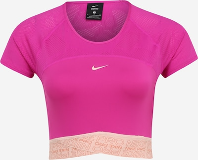 NIKE T-Shirt 'Dry CRP' in beige / pitaya: Frontalansicht