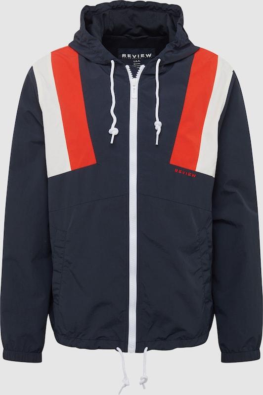 Review Jacke 'WNDBRKR BLOCKED' in navy   rot   weiß  Markenkleidung für Männer und Frauen
