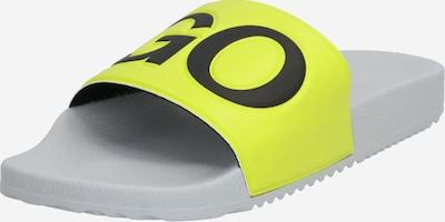 HUGO Mule 'Timeout' en jaune, Vue avec produit