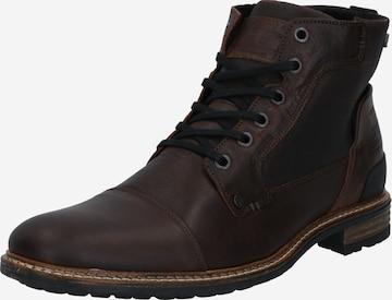 BULLBOXER Buty sznurowane w kolorze brązowy