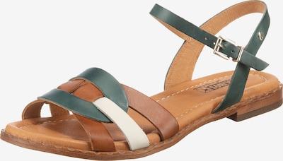 PIKOLINOS Sandale 'Algar' in kupfer / petrol / weiß, Produktansicht