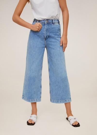 kobaltkék MANGO Élére vasalt nadrágok, Modell nézet