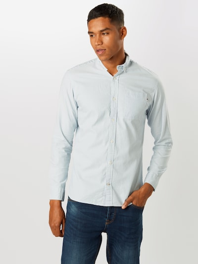 JACK & JONES Hemd 'Oxford' in hellblau / weiß: Frontalansicht