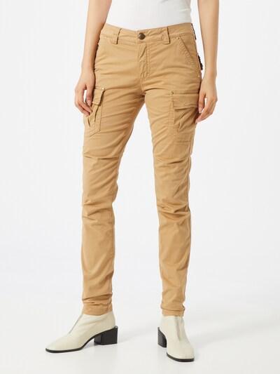 MOS MOSH Kargo hlače 'Cheryl Cargo Reunion' | pesek barva, Prikaz modela