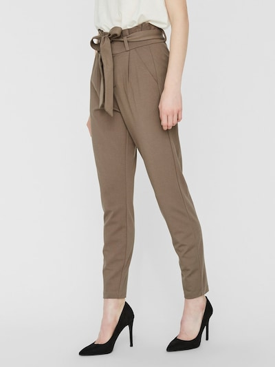 VERO MODA Pleat-front trousers 'VMEVA' in brown, View model