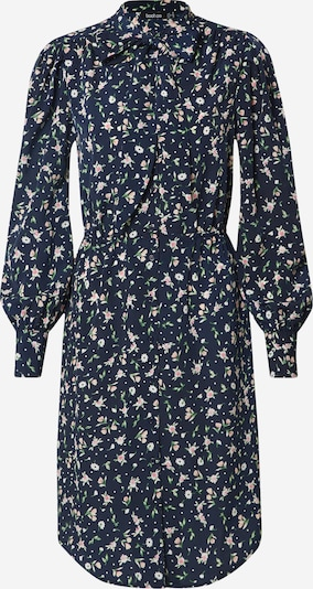Boohoo Kleid 'Floral Button through Dress with Pussy Bow' in dunkelblau, Produktansicht