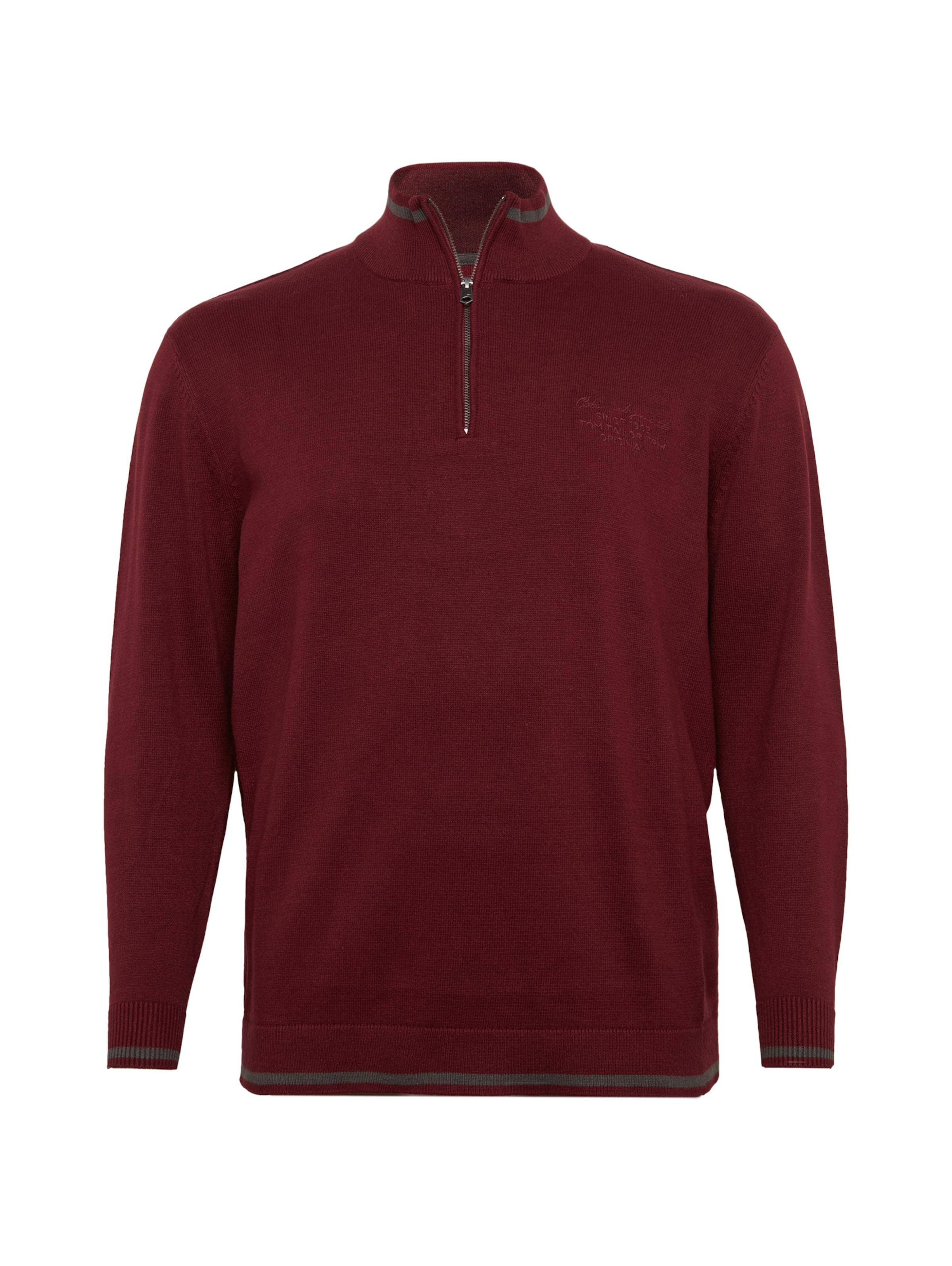 Pullover Tom In RauchgrauBurgunder Tailor Tom In Pullover Tailor RauchgrauBurgunder IY6f7gybv