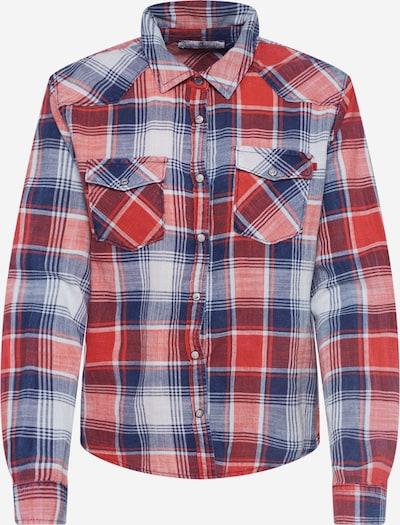 LTB Bluse 'Lucinda' in blau / rot, Produktansicht