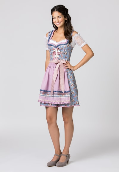 STOCKERPOINT Dirndl 'Talita' - modrá / mix barev / pink, Model/ka