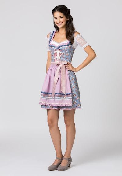 STOCKERPOINT Dirndl 'Talita' en bleu / mélange de couleurs / rose, Vue avec modèle