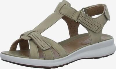 CLARKS Sandalen/Sandaletten in khaki, Produktansicht