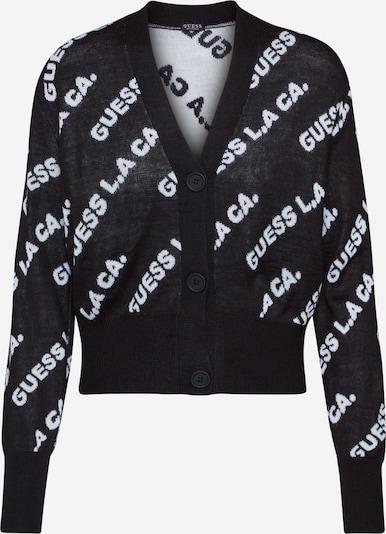GUESS Cardigan 'VIOLET' in schwarz / weiß, Produktansicht