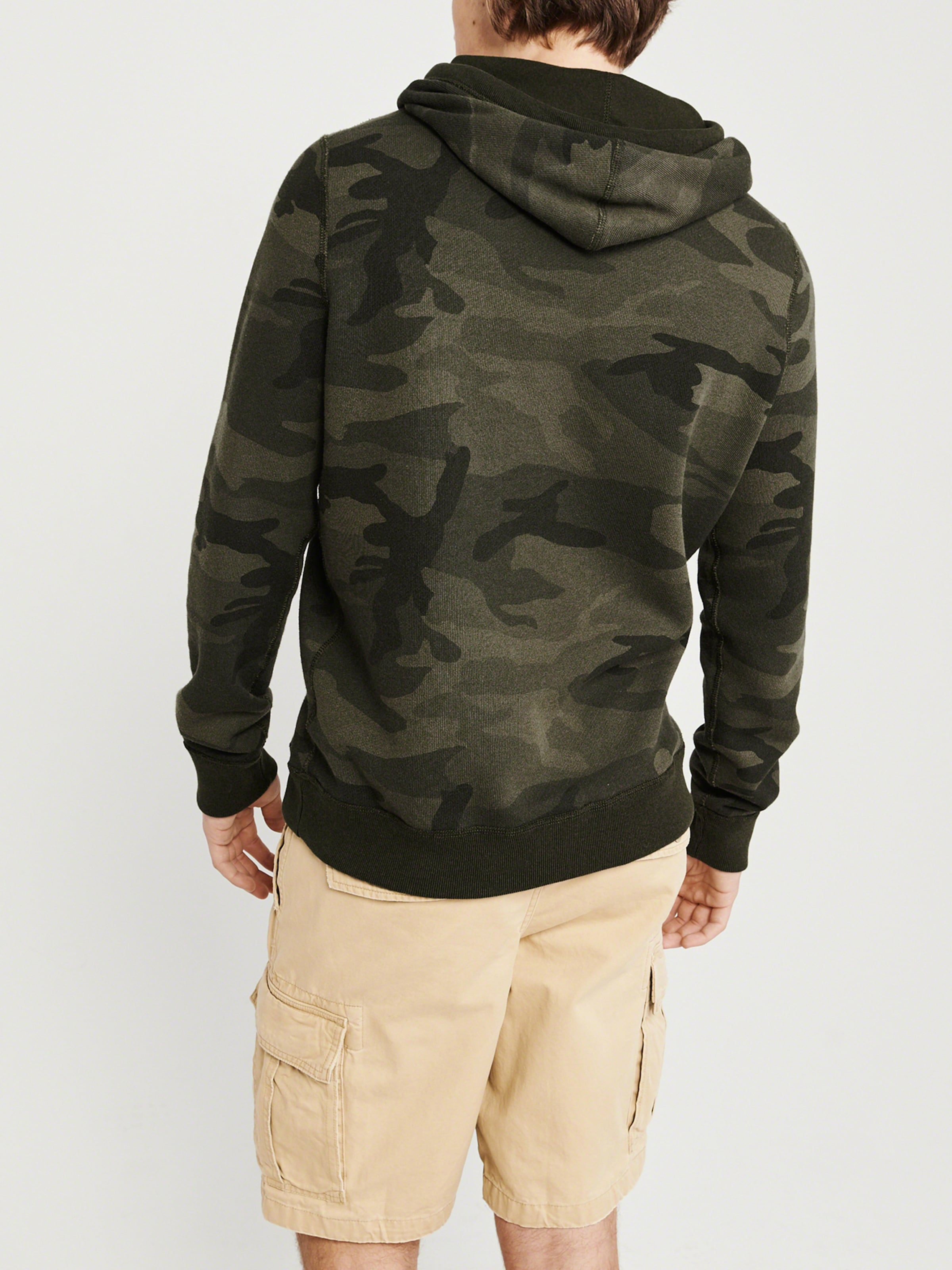 Abercrombieamp; In Khaki 'icon Sweatshirt Fitch Popover' sQrdCth