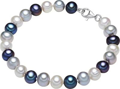 Valero Pearls Silberarmband mit Perlenbesatz in opal / dunkelblau / silber / naturweiß, Produktansicht