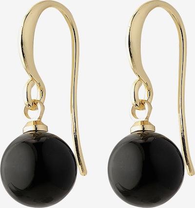 Pilgrim Boucles d'oreilles 'Goldie' en or / noir, Vue avec produit
