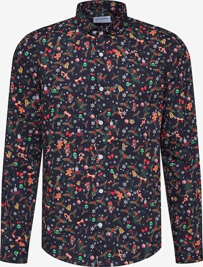 Lindbergh Chemise 'Christmas print shirt L/S' en noir, Vue avec produit