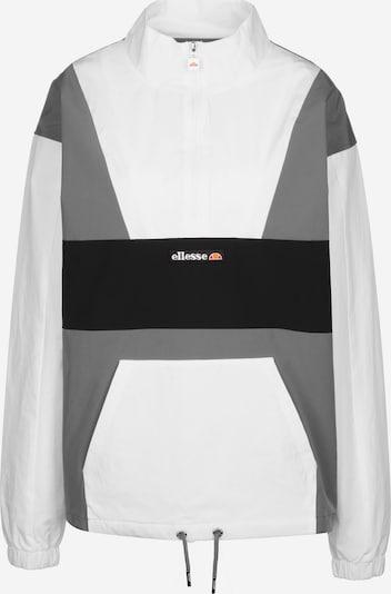 ELLESSE Windbreaker ' Sophia 1/2 Zip Track Top ' in grau / weiß, Produktansicht