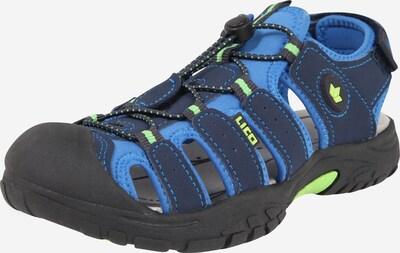 LICO Sandale 'Nimbo' in blau / zitrone, Produktansicht