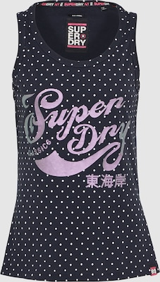 Superdry Top 'POLKA' in Nachtblauw