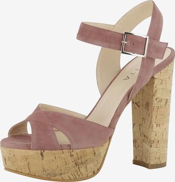 Sandales à lanières 'Lana' EVITA en rose